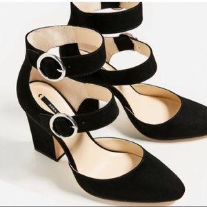 Zara Buckled High Heel Shoes